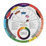 Sanfiyya Guía del círculo de Mezcla en la Tarjeta de Papel Rueda de Color cromático Suministros Pigmento de uñas Cromatografía Tatuaje