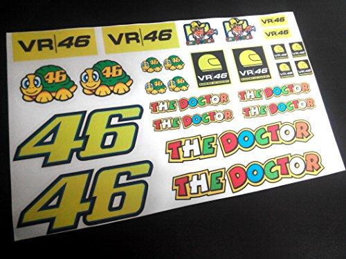 Ecoshirt JE-KLQG-TIU1 Adesivi Kit Eco13 Stickers Valentino Aufkleber Decals Adesivi, Colori Immagine Colors Image Rossi