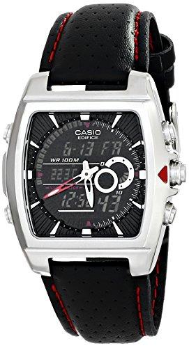 Casio EFA-120L-1A1VDF Edifice - Reloj de Acero Inoxidable con Correa de Piel Negra