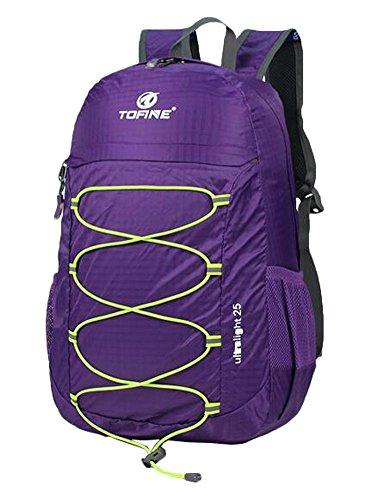 Violet Léger Packable Handy Randonnée Etanche Sac à dos 25 litres