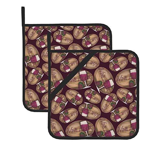 wellay Corona de corcho de vino con soporte para ollas Evergreen resistente al calor para cocinar, asar y hornear, juego de 7,1 x 20,3 cm