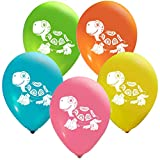 Turtle Balloons - 12 Inch Latex - 2 Sided Print (16 Count) for Birthday Parties or Any Other Event Use - Fill with Air or Helium