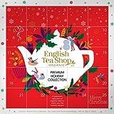 English Tea Shop Calendario de Adviento Té navideño orgánico y selección de té de hierbas con imágenes compostables Caja de regalo - 1 x 25 Bolsitas de té (50 gramos)