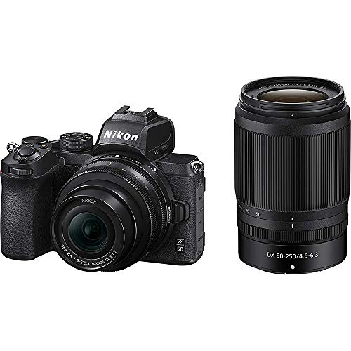 Nikon 1632B Z50 DX Mirrorless Camera w/NIKKOR Z DX 16-50mm & 50-250mm VR Lens - (Renewed)
