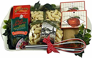 Gift Basket Village - Dinner and Dessert Gift Basket For An Amazing Woman with Decorative Ceramic Baking Dish
