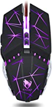 Ushopfun 7 Buttons Computer Gaming Mouse with LED Lighting, Ergonomic Mouse 3200 DPI Wired USB Gaming Mice for Computer/PC/Laptop/Mac Book