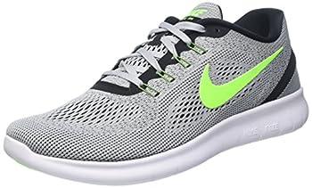 Nike Mens Free RN Running Shoe  7.5 B M  US Pure Platinum/Electric Green/Anthracite