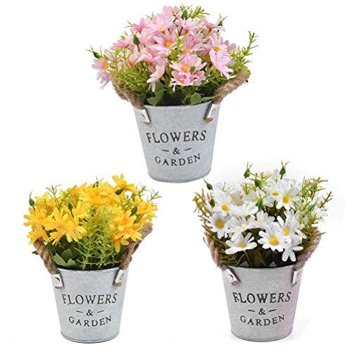 Plantas Artificiales Flores en Maceta 3CS 20*11cm Margarita