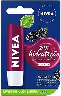 Protetor Labial Nivea Amora Shine , 4.8 G, Nivea, Amora