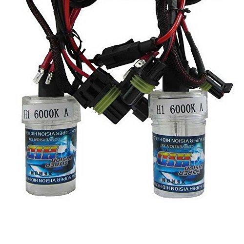 Boomboost New Car Xenon HID Ampoule une paire de xénon HID lampe H1 6000 K
