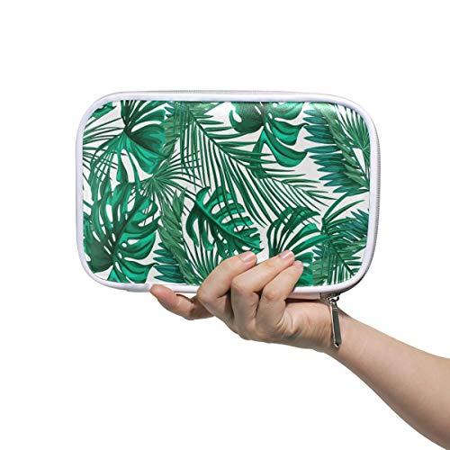 BEETTY Pencil Case Tropical Palm Leaves Pattern Pencil Bag Box Makeup Brush Bag Pen Pouch for Girls Boys Kids Women School