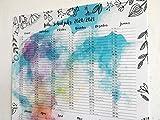 Kita- und Schuljahres-Planer 2020/2021 Wandkalender A2 I Übersicht Wandkalender