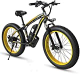 Bicicletas Eléctricas, Adulto Fat Tire Bike Electric Mountain, 26 pulgadas ruedas, marco ligero de aleación de aluminio, delantero Suspensión, frenos de disco doble, eléctrico bicicleta de trekking fo