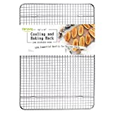 """Stainless Steel Wire Cooling Rack, Cookie Cooling Rack, Baking Rack, Grid Design, Size 12"""" x 17"""" Dishwasher Safe Wire Rack. Fits Half Sheet Cookie Pan Oven Safe Rack"""