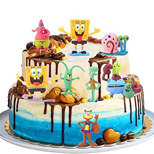 SpongeBob Mini Juego de Figuras, SpongeBob Cake Topper...