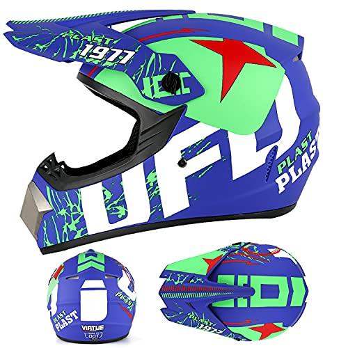 FSYG Casco de protección profesional para barco, casco de motocross, guantes y gafas para barcos a motor y deportes acuáticos, C, XL