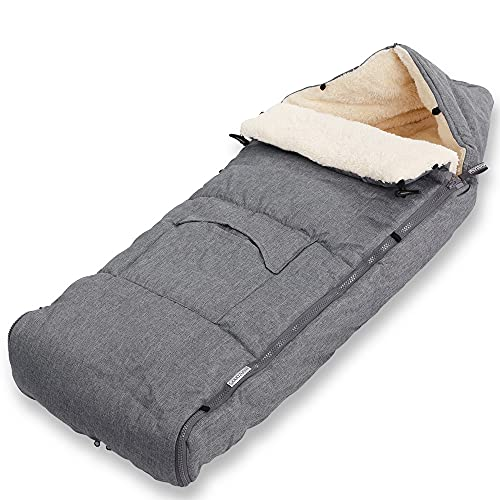 Monzana Saco para bebé Gris 93x56cm Saco de dormir multiuso Manta para cochecito asiento portabebés