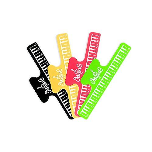 Zhi Jin 4 Stks Piano Muziek Blad Houder Stand Sheet Boek Pagina Clip Toetsenbord Vormgegeven Muziek Note Clips 150mm