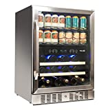 NewAir Beverage Cooler 22 Bottle and 70 Can Capacity Dual Zone Built...