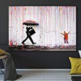 ganlanshu Pintura sin Marco Graffiti Abstracto Arte Callejero Lluvia Colorida Pintura al óleo sobre Lienzo Carteles e Impresiones popularesZGQ3332 50X75cm