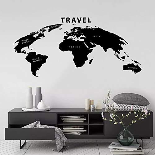 WERWN Arte Creativo Pared y Tierra Globo Natural decoracin del Mapa del Mundo