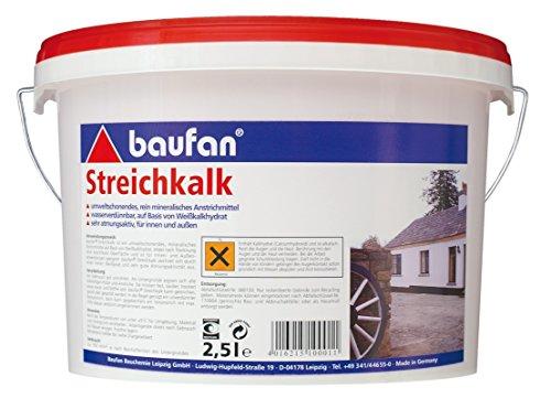 Baufan 100011 Streichkalk, Weiß