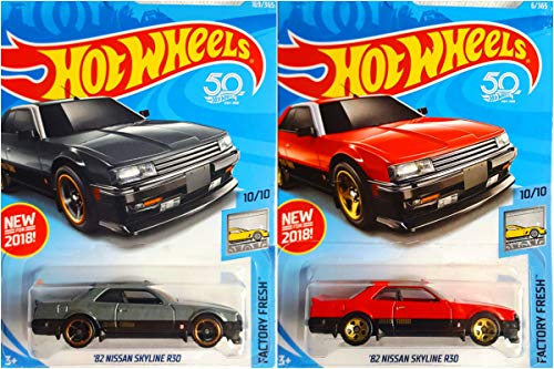 2018 Hot Wheels Factory Fresh 10/10 - '82 Nissan Skyline R30 (Red & Gray) - Set of 2!