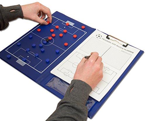 Wollowo - Dossier magnétique avec feuille et stylo - pour entraîneur de football -...