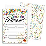 Retirement Party Invitations - 10 Cards with Envelopes