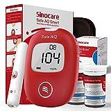 Blutzuckermessgerät Set - Safe AQ Smart - mit 50 Teststreifen für Diabetes mg/dL mit deutscher Bedienungsanleitung