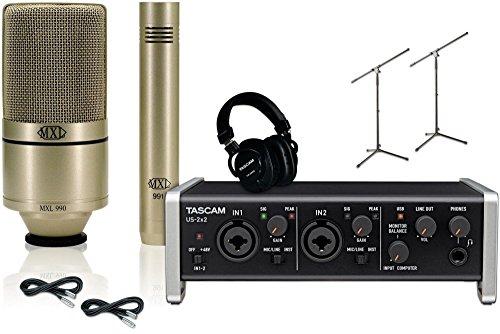 Tascam US-2x2 MXL 990/991 Package