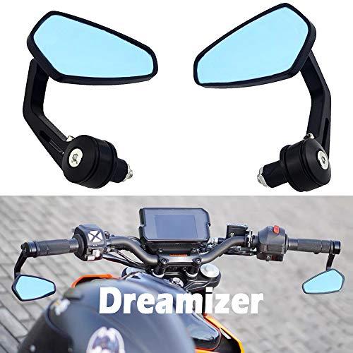 """Dreamizer 7/8\"""" 22mm Specchietti Moto Manubrio, Moto Specchietti Laterali per Z1000 Z750 MT03 MT09 FZ6 SV650 SV1000 CB1000R CBF125 Monster M696 821"""