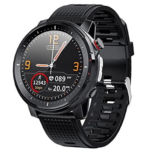 nJiaMe Inteligente Reloj Bluetooth Pulsera de los Deportes IP68 a Prueba de Agua Pantalla táctil Hombres Mujeres Aptitud del Reloj rastreadores Negro