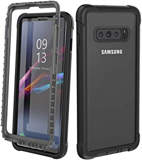 Galaxy S10 Shockproof Case, Dooge Tough Armor Rugger Full-Body Heavy Duty Dropproof Dustproof Shockproof Bumper Case with Built-in Screen Protector for Samsung Galaxy S10 6.1