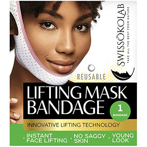 Reusable Face Slimming Strap Double Chin Reducer V Line Mask Chin Up Patch Chin Mask V Up Contour Tightening Firming Face Lift Tape Neck Bandage V-Line Lifting Patches V Shaped Belt