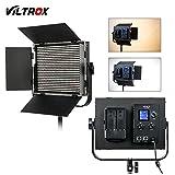 VILTROX スタジオビデオライト VL-D60T スタジオ撮影 LEDビデオライト 816球 写真撮影照明 最大出力60W CRI 95+ 超高輝度 3300K〜5600K色温度調整 U型ブラケットと遮光板付き