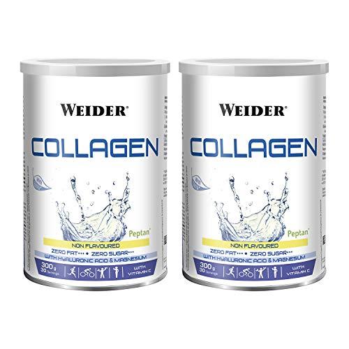 Weider Duo Pack Collagen, Weider Collagen. with Hyaluronic Acid, Magnesium and Vitamin C. 100% Peptan. Zero Fat. Sugar Zero. Keto. 600g