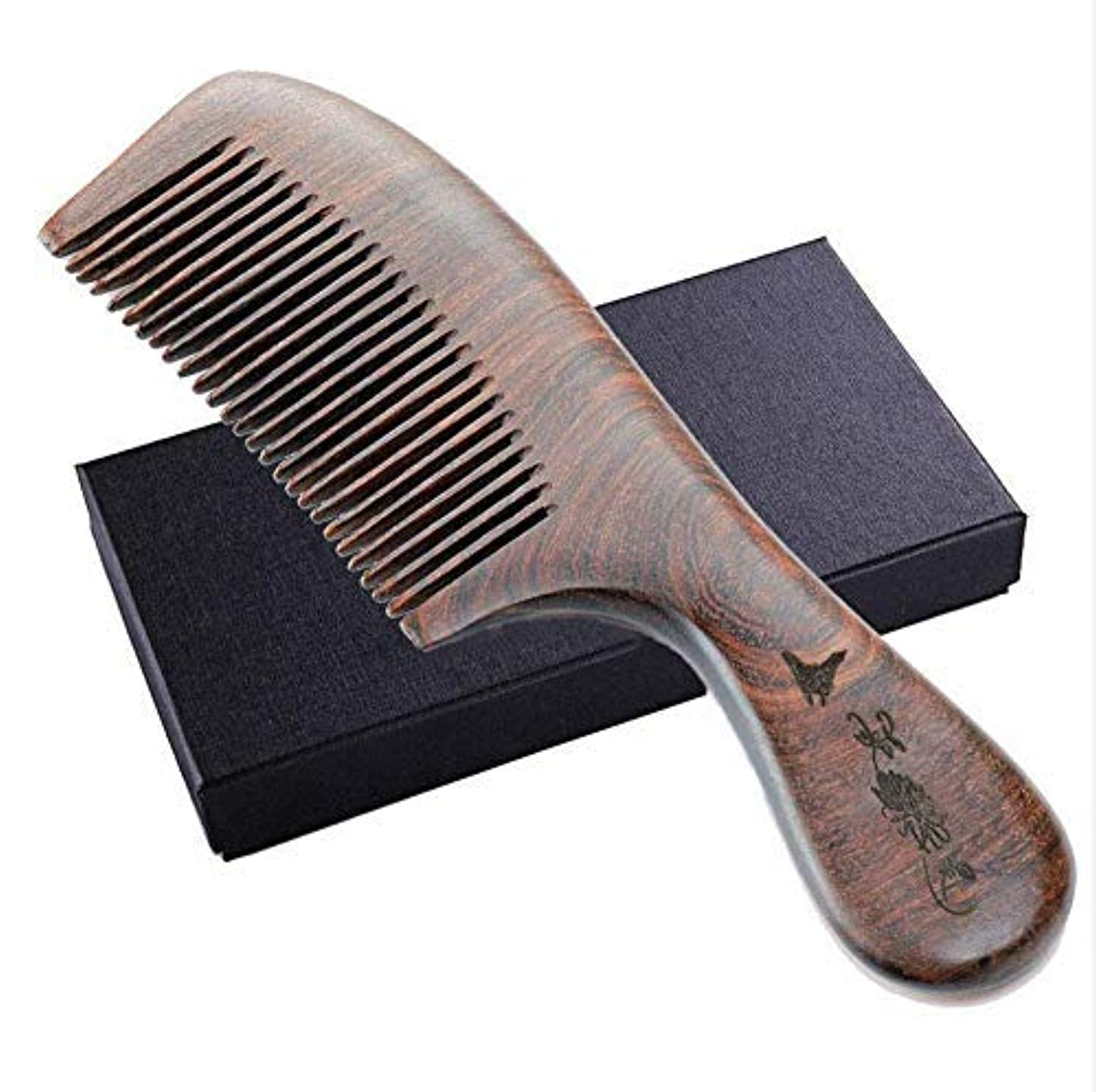 ハーブアルカトラズ島首謀者Wooden Hair Comb, Anti-Static, Detangling Fine Tooth Shower Comb,No Static Natural Wooden Sandalwood Comb for Women, Men [並行輸入品]