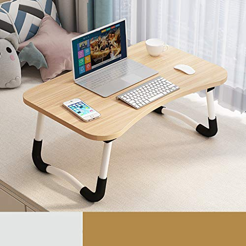 Laptop Bed Table,Portable Lap Desk, with Foldable Legs & Cup Slot, for Eating Breakfast,Reading, Watching Movie on Bed/Sofa Yellow