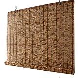 KDDEON Tenda a Rullo in bambù con Decorazione a Carbonizzazione retrò,Tenda a Lamella per La Privacy della Partizione,Tapparella Avvolgibile Ventilata per Terrazza/Ristorante (160x180cm/63x71in)