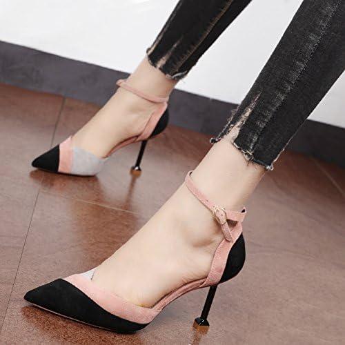 Xue Qiqi Femelle wild spell fendue pour high-heeled couleur chaussure unique velours élégant chaussures à pointe de tide
