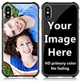 SHUMEI Custom Case for Apple iPhone X Glass Cover 5.8 inch Anti-Scratch Soft TPU Personalized Photo Make Your Own Picture Phone Cases