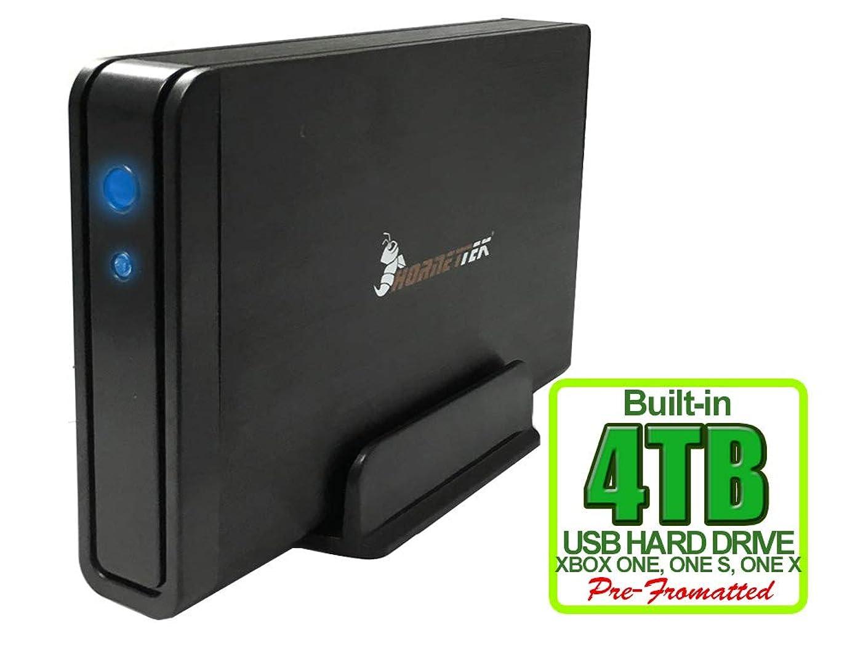 HornetTek Viper 4TB (4000GB) 7200RPM 64MB Cache USB 3.0 External Xbox Hard Drive (Xbox One Pre-Formatted) - Xbox One, Xbox One S, Xbox One X