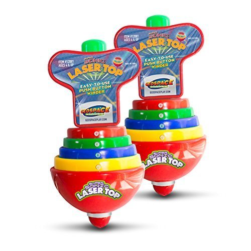 Purchase Geospace Super Sonic Laser Top Spinning Toy with Flashing Lights & Sounds (2-Pack)