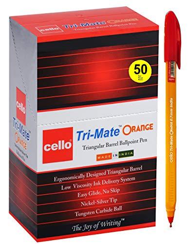 BIC Cello - Bolígrafos de punta media originales (0,7 mm), color naranja, color rosso juego de 50