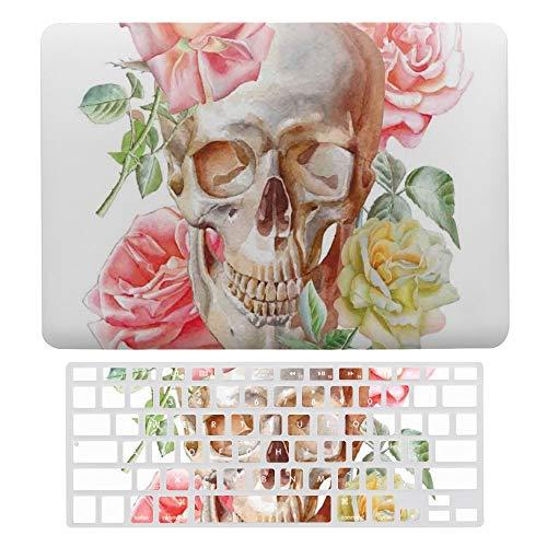 Funda para MacBook Air de 13 pulgadas (A1369 y A1466, versión anterior de 2010 y 2017), funda protectora rígida de plástico para portátil con cubierta para teclado, diseño de rosas románticas