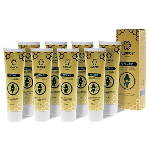 ZDOROV Artraid natürliche Propolis Wachs-Creme mit Sumpf-Blutauge-Extrakt (240g)