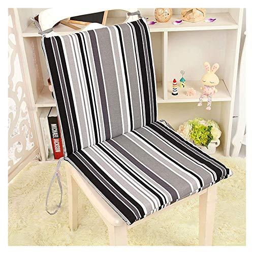 ZKDY High Back Stuhlkissen Recliner Weiche Schaumgarten Gartenstuhl Sitzpadkissen mit Rückenlehne for Stuhlreisen/Urlaub/Innen- / Außenbereich Stuhlkissen (Color : Love Stripes, Size : 45x45cm)
