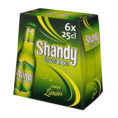 Shandy Cruzcampo Limón Cerveza - Pack de 6 Botellas x 250 ml - Total: 1.5 L