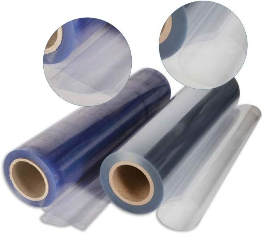 PVC transparente plastificado cristal 100 % impermeable, múltiples usos, altura del rollo 135 cm, doble grosor, venta por medio metro lineal (grosor ...